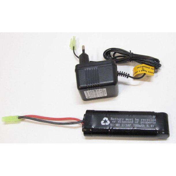 Batteri pakke med oplader