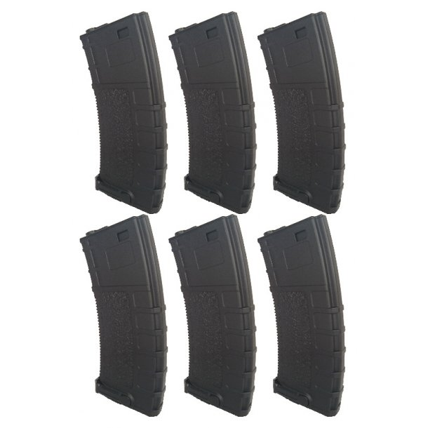 Low cap M4 magasin 6 pack - 70 skud