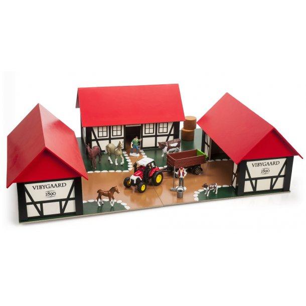 bondegård legetøj træ