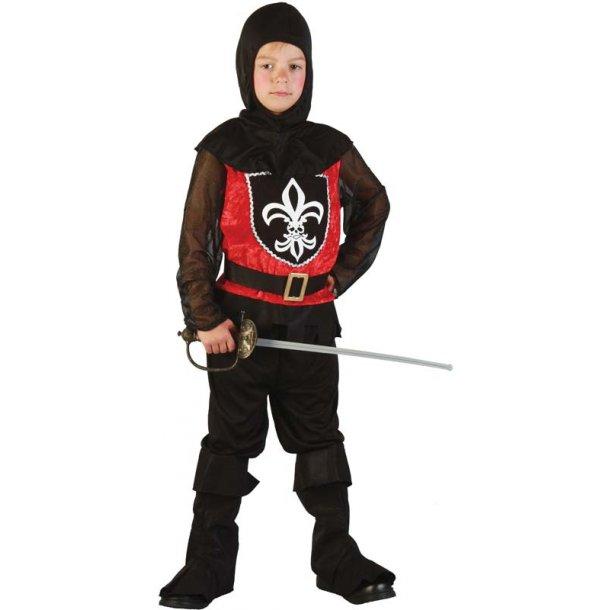 Sort ridder str. 120 cm.