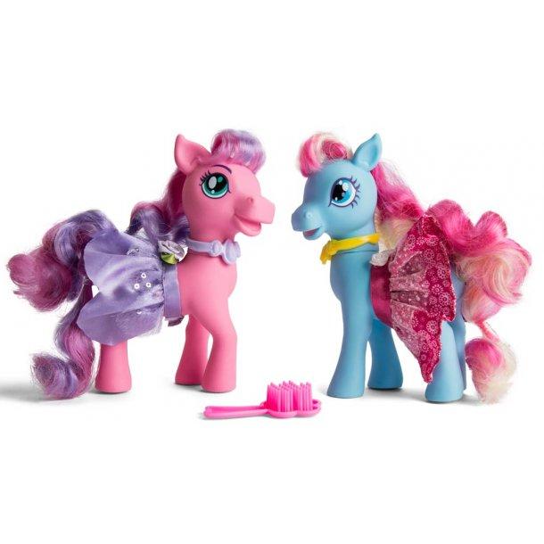 Princess Pony sæt med 2 ponyer og tilbehør