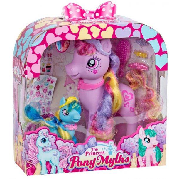 Princess Pony sæt med en stor og lille pony