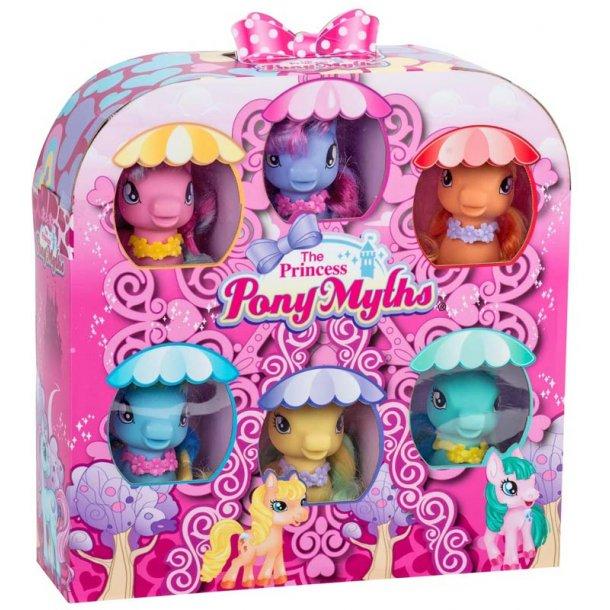Princess Pony gavesæt med 6 pony'er
