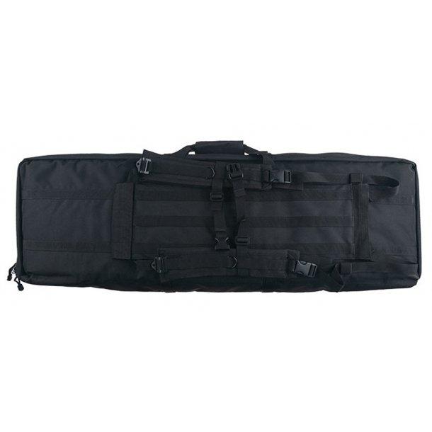 Geværtaske med lommer - 100 cm. sort