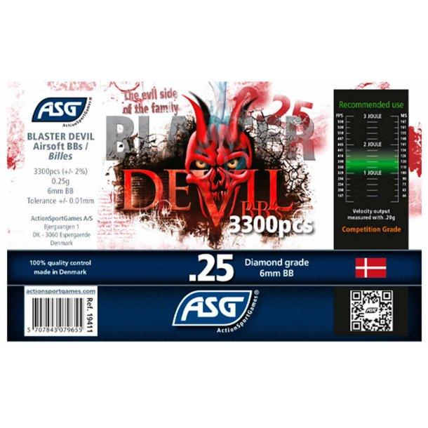 0,25g Blaster Devil Præcisions kugler 3300 stk.