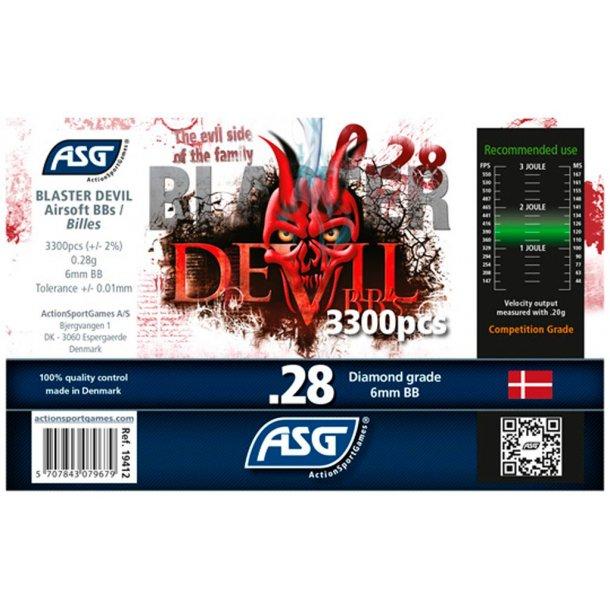 0,28g Blaster Devil - Præcisions kugler 3300 stk.