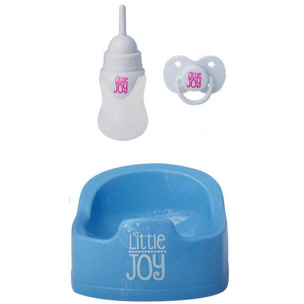 Little joy - interaktiv dukke - blåt tøj