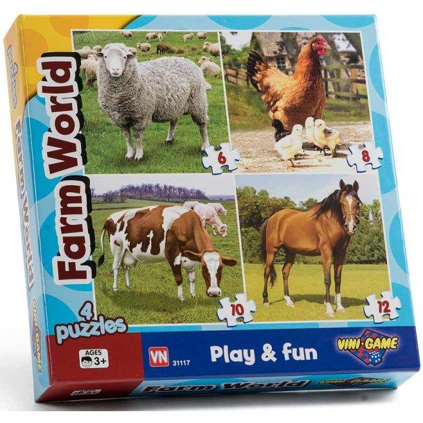 Farm world - 4 i 1 puslespil