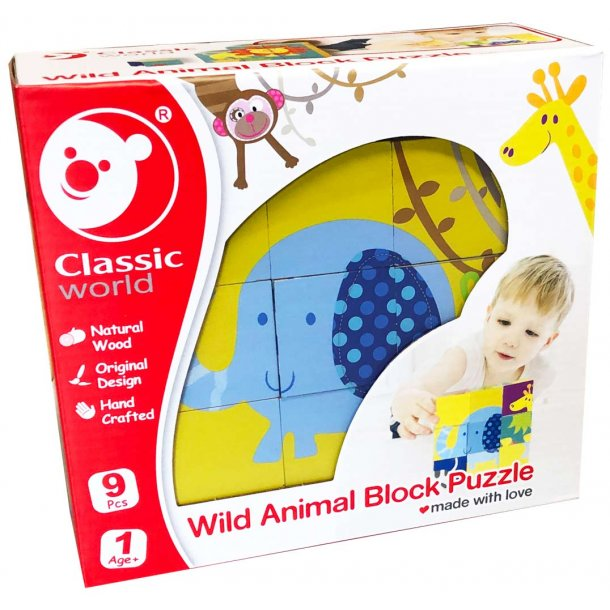 Klodspuslespil med vilde dyr
