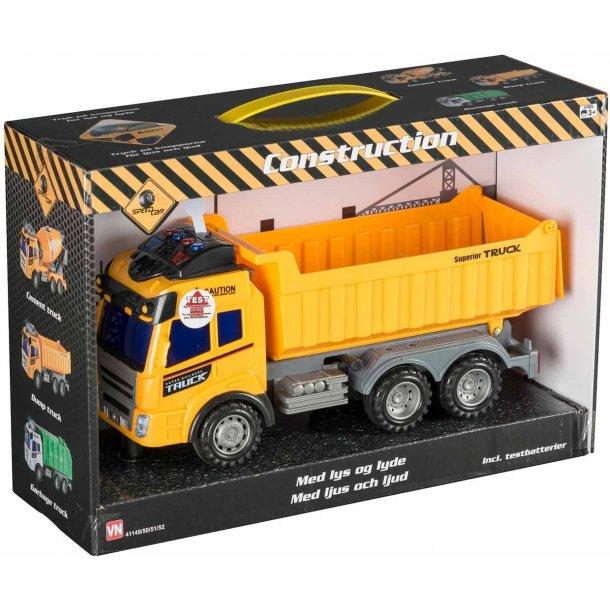 Construction lastbil med lyd og lys