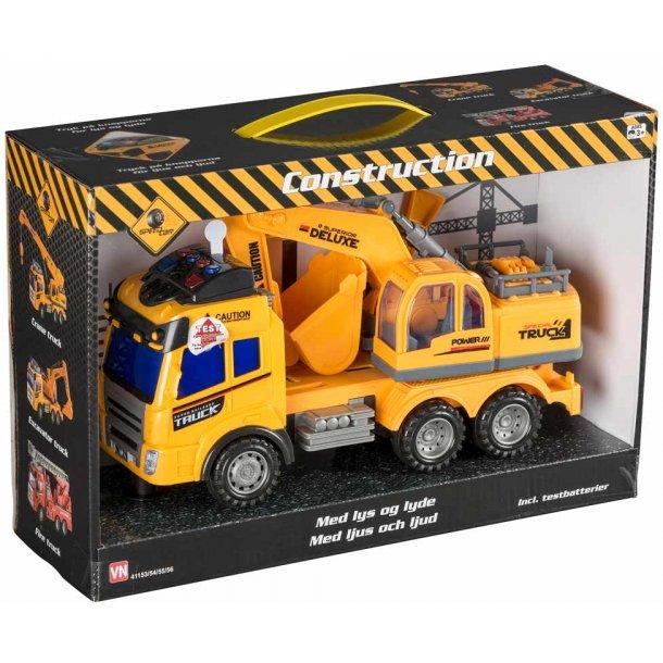 Lastbil med rendegraver - 28 cm.