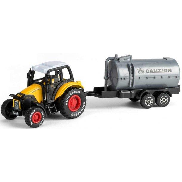 Bull traktor med gyllevogn