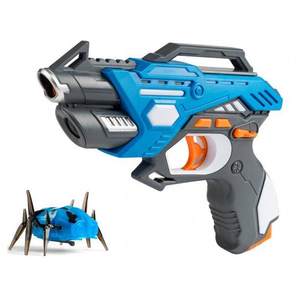 Laserpistol med mekanisk kryb