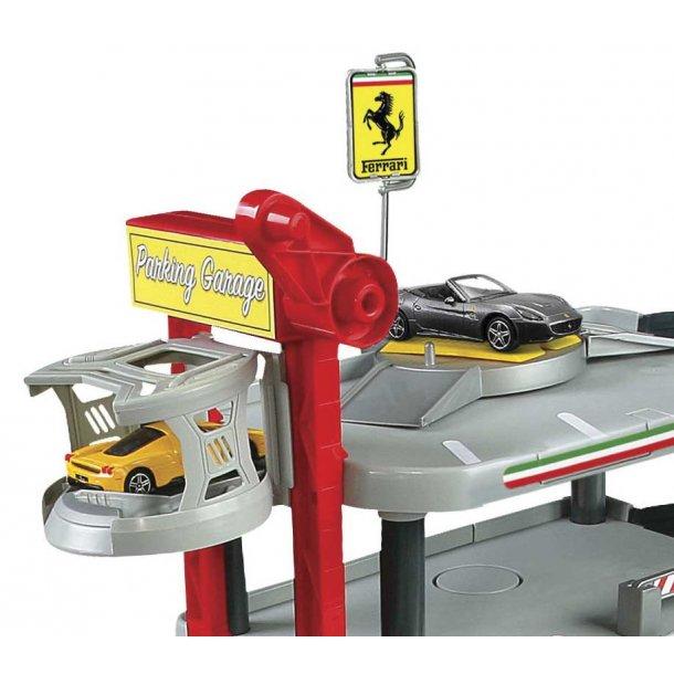 Burago Ferrari garage med to biler