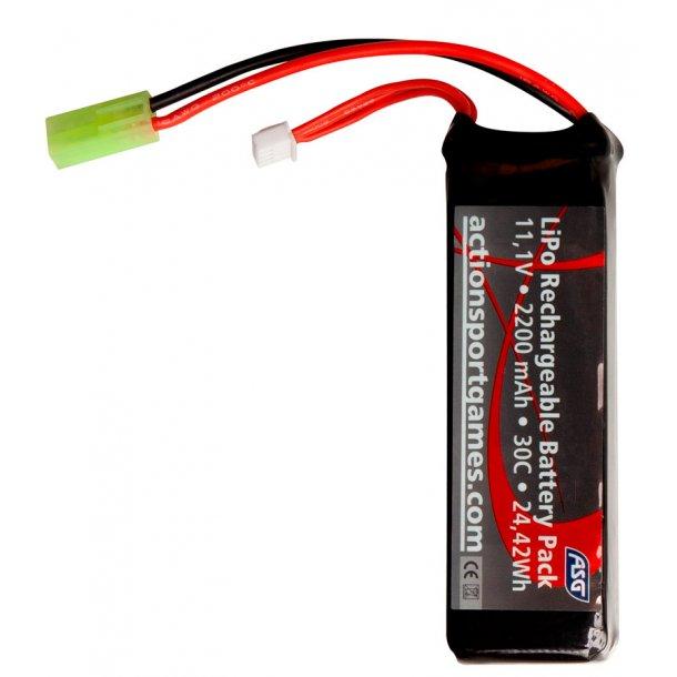 Batteri 11,1v 2200 mAh LiPo - 30c Tamyia stik