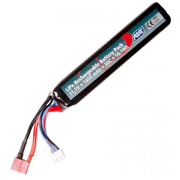 Batteri 11,1v 1450 mAh LiPo - 30c T-stik