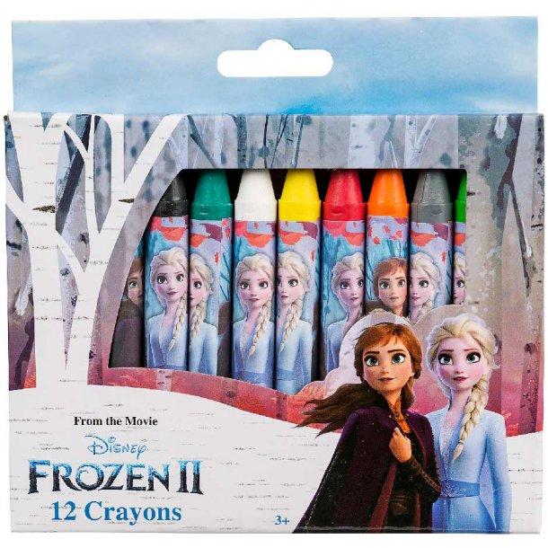 Frozen II farvestifter - 12 stk