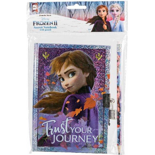 Frozen II dagbog med lås