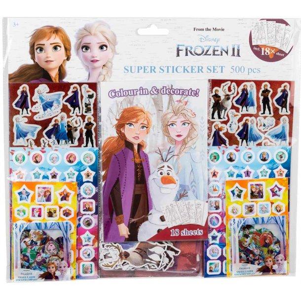 Frozen 2 mega stickersæt
