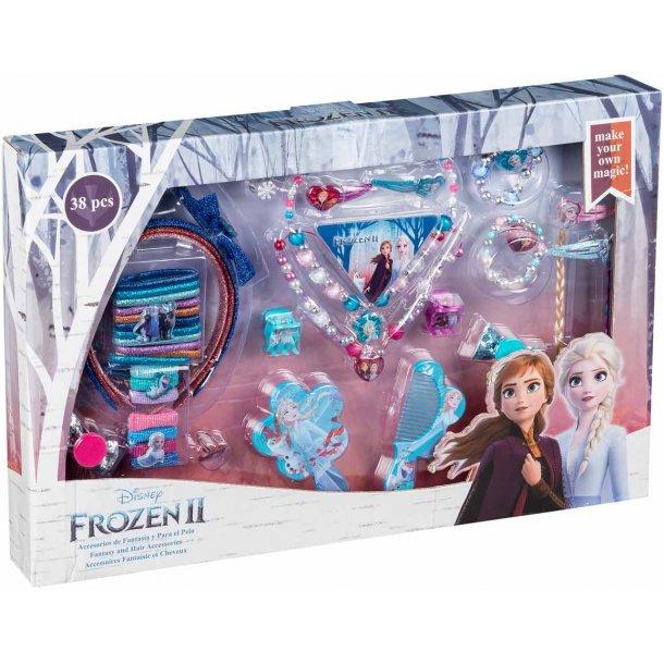 Frozen II mega hår og smykkesæt - 38 dele