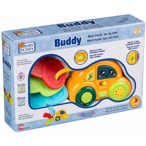 Baby Buddy bil med nøgler og lyde