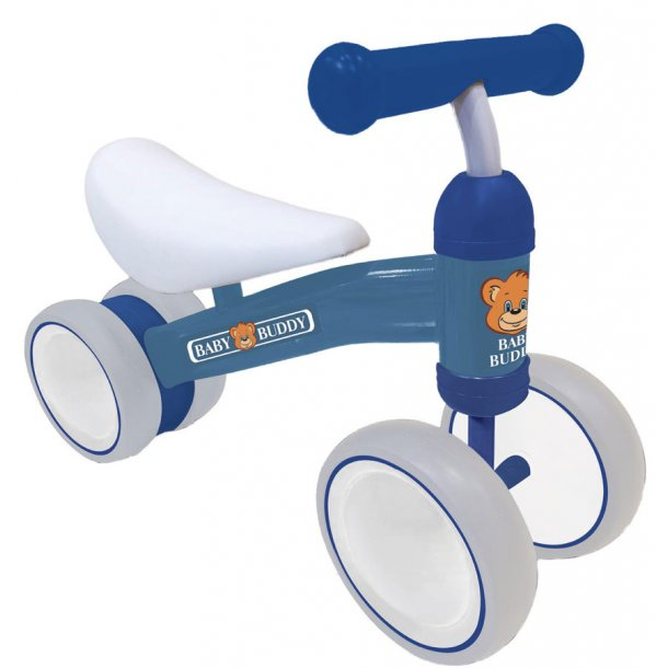 Buddy gåcykel i blå metal