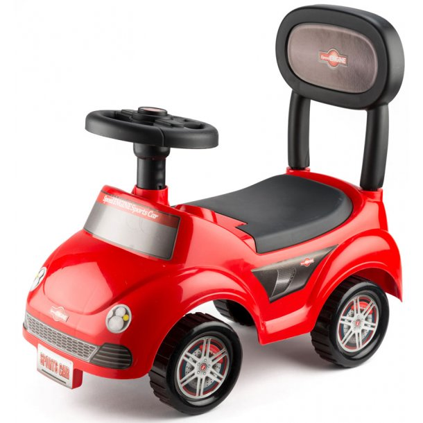 Buddy rød gåvogn med horn