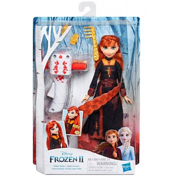 Frozen II Anna hårflette dukke