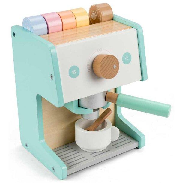 Espressomaskine i træ