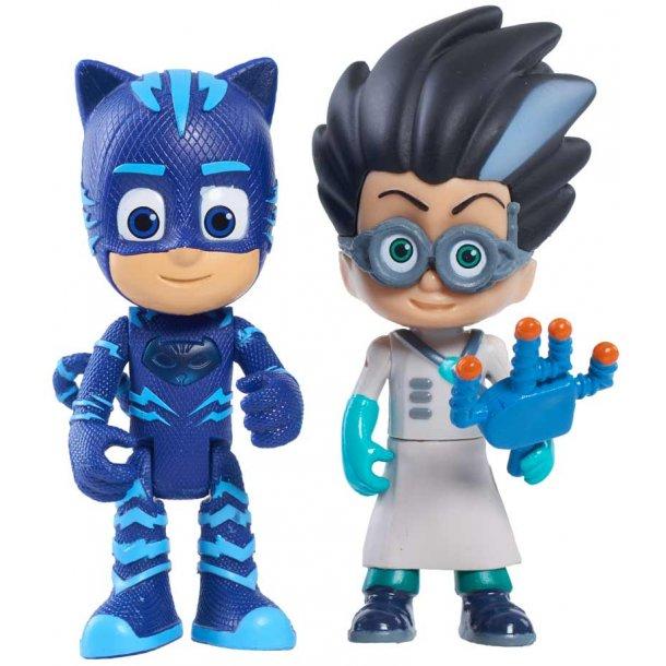 PJ masks figur pakke med lys - Catboy & Romeo