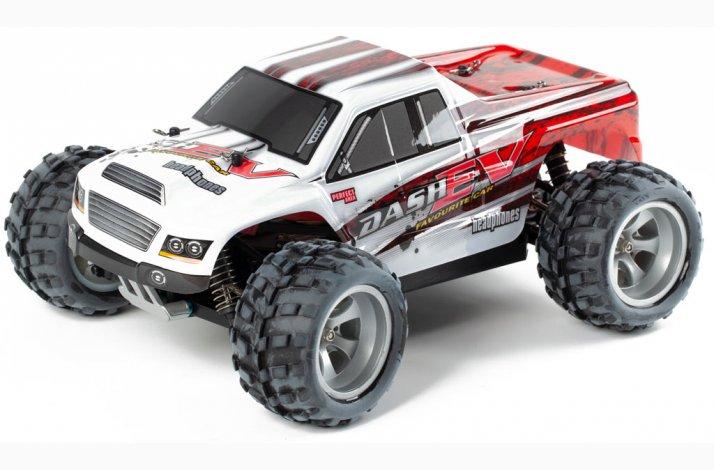 Fjernstyret monster truck Dash - 70 km/h
