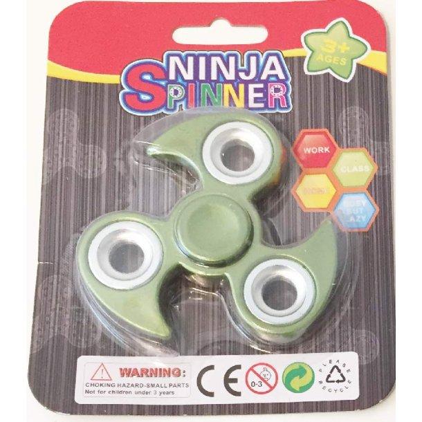 Ninja fidget spinner - grøn