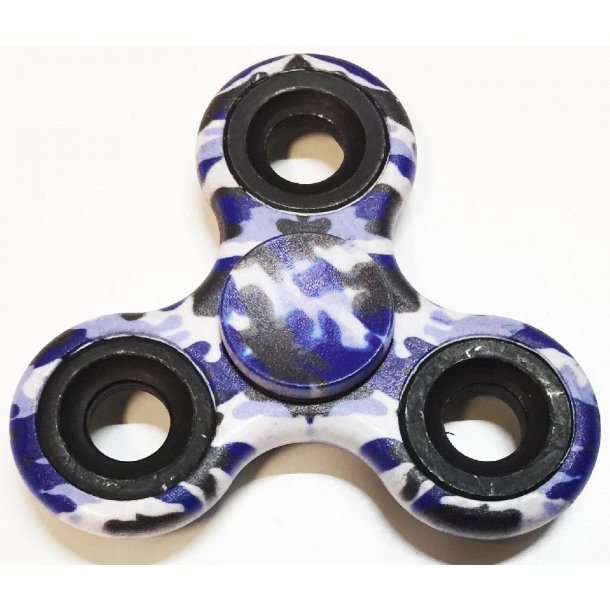 Spinner Airbrush blue camouflage