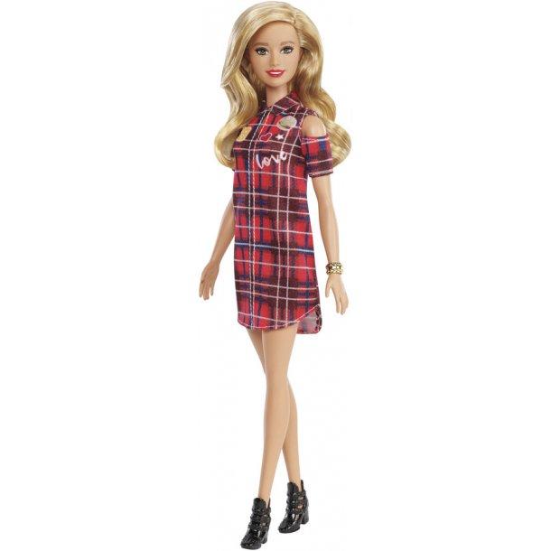 Barbie Fashionistas dukke - rød kjole