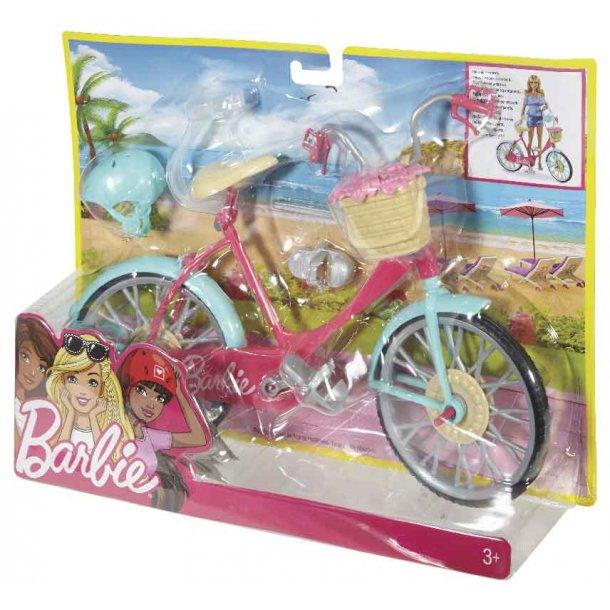 Barbie cykel med tilbehør