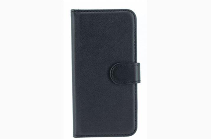 Iphone 5 cover - sort kunst læder