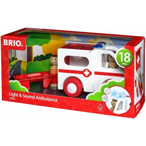 Brio ambulance med lyd og lys
