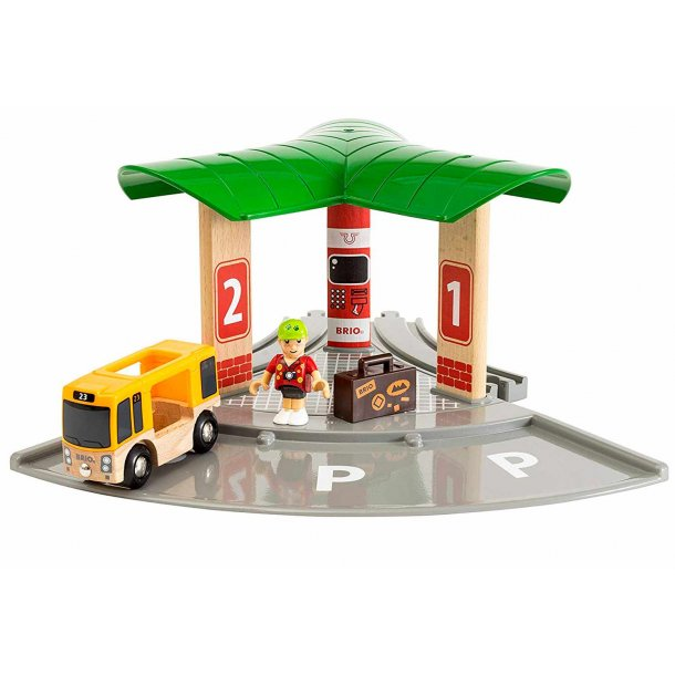 Brio bus og togstation