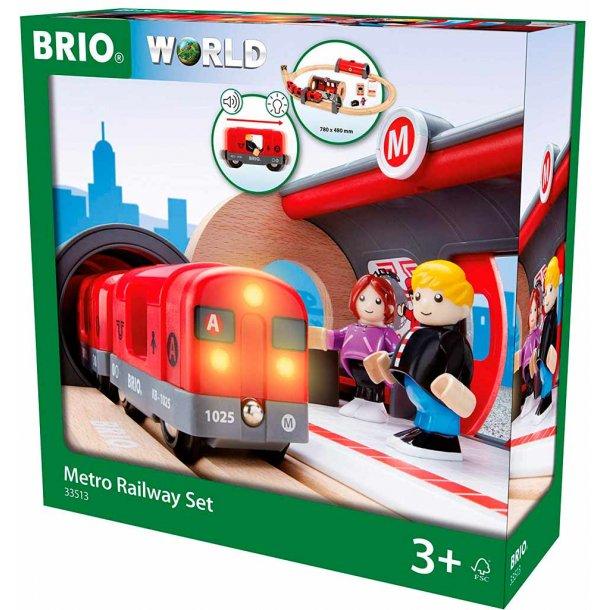 Brio Metro togbane med lys og lyd