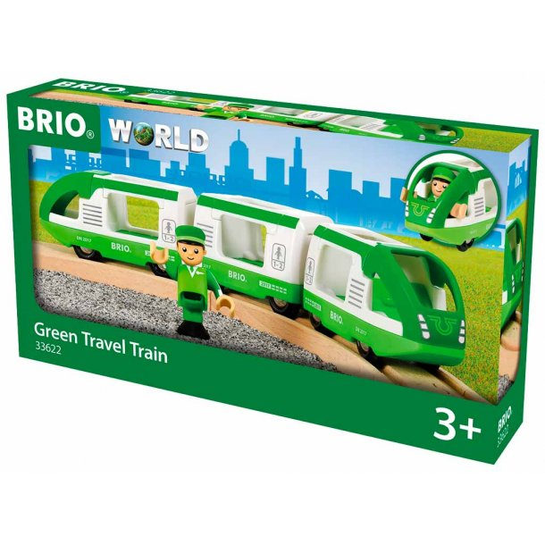 Brio Grønt Passagertog med 1 Figur
