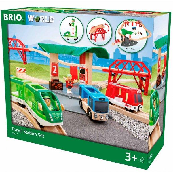 Brio Stationssæt komplet togbane