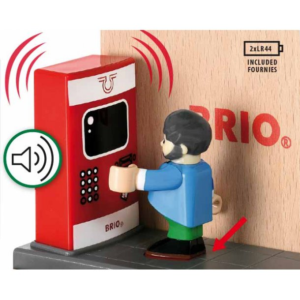 Brio togstation med lyd og tilbehør