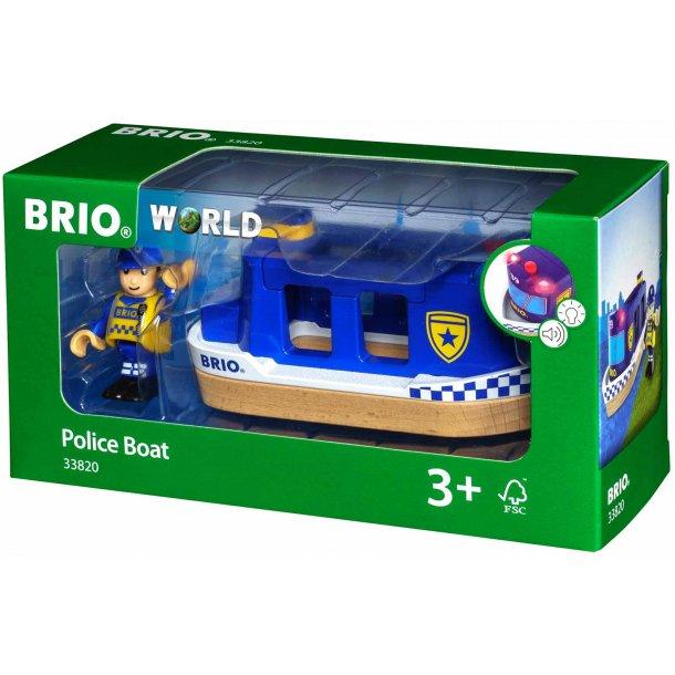 Brio politibåd med lyd og lys