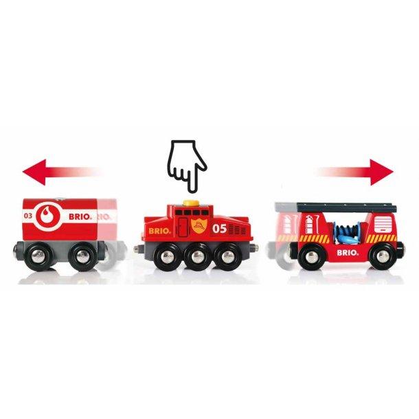 Brio brand redningstog