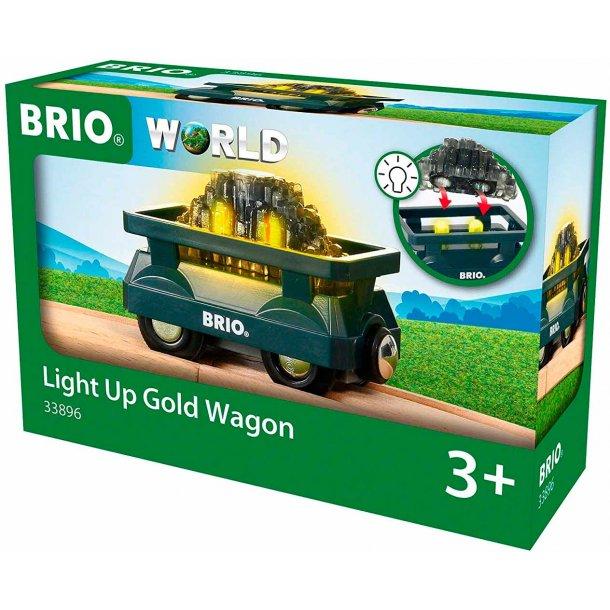 Brio togvogn med guld og lys