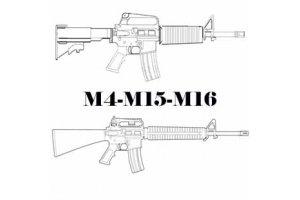 Reservedele til m4 , M15 & M16 rifler