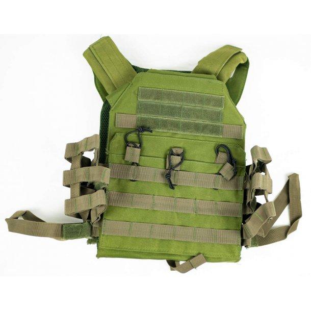 Plate carrier vest med molle - OD