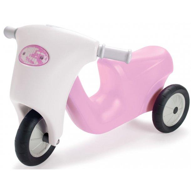Dantoy pink prinsesse scooter med gummihjul