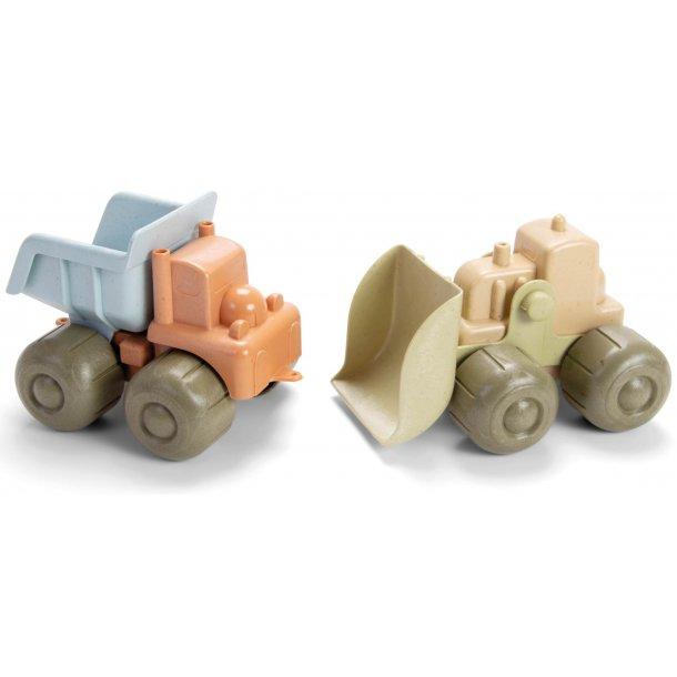 Dantoy Bioplast lastbil og bulldozer