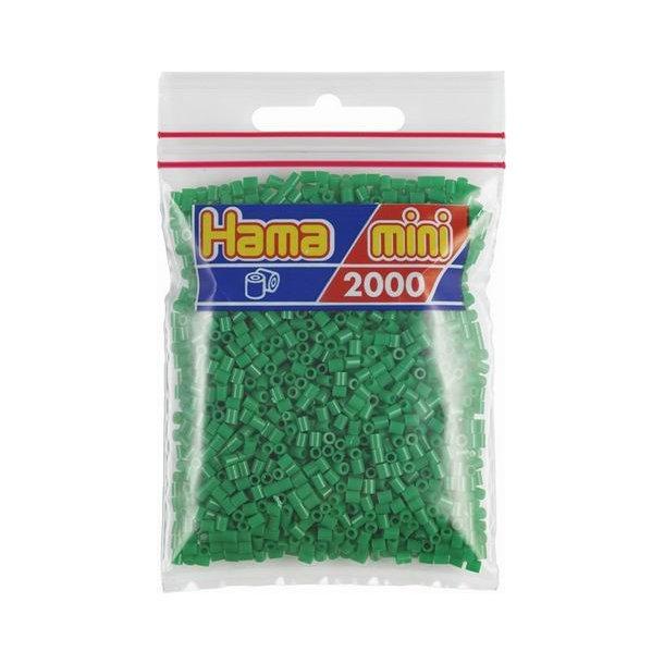 Hama mini perler 501-10 2000 stk. grøn